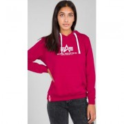 Alpha Industries New Basic Felpa con cappuccio da donna Rosa S