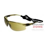 Okulary ochronne Peltor Tora - brązowe, do ASG
