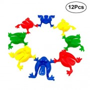 12Pcs Plastic Jumping Leap Frog Toy for Kids for Kids Playing Parties Gifts Party Favors Birthday (Random)