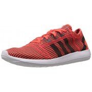 adidas Men's Element Refine Tricot M Solar Red and Black Mesh Running Shoes - 8 UK
