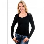 Garage Women Longsleeve T-Shirt Round Neck Black ( art 0704) - Zwart - Size: Large