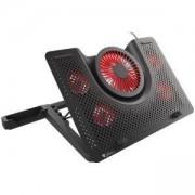 Охлаждаща подложка Genesis Oxid 550 за лаптоп (15.6-17.3 инча), 5 вентилатора, Red LED подсветка, USB 2.0, NHG-1411