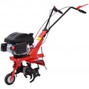 vidaXL 5 HP 2,8 kW benzines fogantyús kapálógép piros