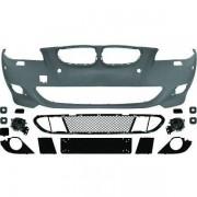 Paraurti anteriore TUNING BMW Serie5 E60 E61 berlina Touring 2007-2010 LCI look sportivo M5 completo, per sensori per lavafari