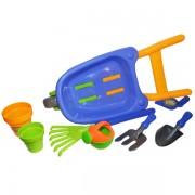 Roaba mare cu accesorii pentru joaca in nisip - Set de gradinarit