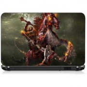 VI Collections HORSE WITH FIRE PRINTED VINYL Laptop Decal 15.5