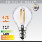 Mitea Lighting Sijalica LED 230V 470lm 2700K (E14 filament G45 4W)