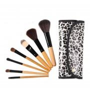 EY Pro. 7 Pcs Maquillaje Cosmético Pinceles Pincel W/ Funda De Moda Maquillaje
