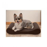 FurHaven Microvelvet Luxe Lounger Cooling Gel Dog Bed w/Removable Cover, Espresso, Medium
