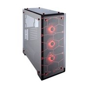 Corsair Crystal 570X Computer Case - ATX, Mini ITX, Micro ATX Motherboard Supported - Mid-tower - Steel, Tempered Glass - Red - 10.90 kg