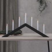 Arrow candleholder, flat, 7-bulb, black