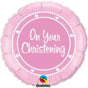 On Your Christening Girl Foil Balloon
