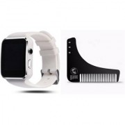 Style Maniac X6 Bluetooth Smart Watch Compatible With Android and IOS Devices SmartwatchBeard Shaprer Comb For Shaving
