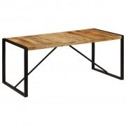 vidaXL Masă de bucătărie, lemn masiv de mango nefinisat, 180 cm