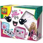 Детски комплект - Направи си Модерна чанта с брокат SES, 0814144