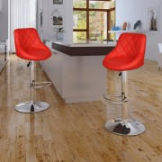 vidaXL Barová stolička, 2 ks, červená