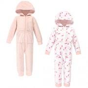 Hudson baby Hudson Overol de Forro Polar Unisex para bebé y niño pequeño, Toddler Pink Unicorn 2-Pack, 5 Toddler (5T)