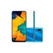 Smartphone Samsung Galaxy A30 64GB Dual Chip 4G Tela 6,4 Câmera 16MP e 5MP Frontal 16MP Android 9 Azul -