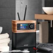 Sonoro sonoroSTREAM Musiksystem, UKW/DAB+ Radio, USB, WLAN, Walnuss / Schwarz