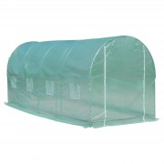Outsunny Walk-in Outdoor Tunnel Greenhouse Portable Warm House Backyard Planter