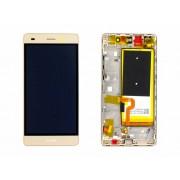Ecran Display Huawei P8 Lite Original Service Pack cu baterie Gold