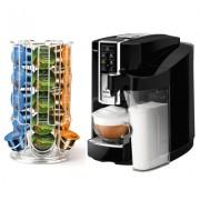 Espressor Tchibo Cafissimo Latte Professional negru in custodie cu abonament Ultra 200 capsule/luna