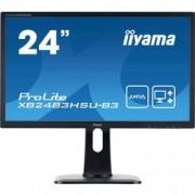 Iiyama LED monitor Iiyama ProLite XB2483HSU, 60.5 cm (23.8 palec),1920 x 1080 px 4 ms, AMVA LED HDMI™, DisplayPort, VGA, USB 2.0, na sluchátka (jack 3,5 mm)