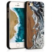 kwmobile Dřevěné pouzdro pro Apple iPhone SE - hnědá