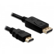 DELOCK kábel Displayport 1.1 male to HDMI male passzív, 1m, fekete