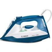 Парна ютия Bosch, 2400 W, CeraniumGlissée плоча, без риск от водни петна, Бяла/Синя, TDA3024020