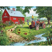 White Mountain Puzzles Old Tractor Jigsaw Puzzle (1000 Piece)
