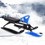 vidaXL Trenó de corridas na neve preto e azul