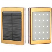 New 20000 mAh Solar and Camping light Battery Panel external Charger Dual usb