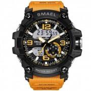 SMAEL Men's Sports Analog Quartz Watches Dual Display Digital Watches LED Backlight Waterproof Military Multifunctional - Мъжки часовник