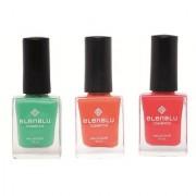 Allure Roseate Blush and California Coral 9.9ml Each Elenblu Matte Nail Polish Set of 3 Nail Polish