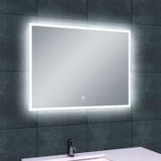 Badkamerspiegel Wiesbaden Quatro 80x60cm Geintegreerde LED Verlichting Verwarming Anti Condens Touch Lichtschakelaar Dimbaar