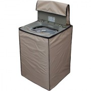 Glassiano beige Waterproof & Dustproof Washing Machine Cover for WHIRLPOOL Top loading fully automatic all models