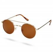 Waykins Ambit Goldfarbene Runde Pilotenbrille