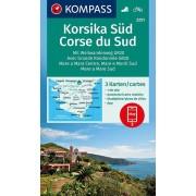 Wandelkaart - Fietskaart 2251 Korsika Süd - Corse du Sud | Kompass