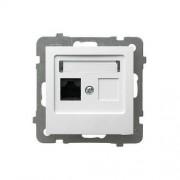 OSPEL Gniazdo komputerowe pojedyncze, kat. 5e, MMC - Biały