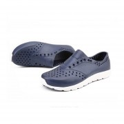 Ligero y transpirable hombres zapatos zapatillas EVA Acanalar sandalias planas Azul oscuro