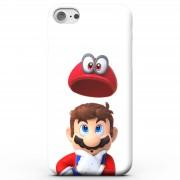 Nintendo Funda Móvil Super Mario Odyssey Mario y Cappy para iPhone y Android - Samsung S8 - Carcasa doble capa - Mate