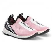 Dolce & Gabbana Logo Mesh Sneakers Rosa/Vit Barnskor 27 (UK 9)