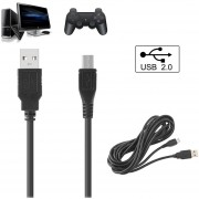 Negro 3M / 10Ft Micro USB Game Controller Adaptador De Juego Y Carga De Cable Para PS4 XBOX ONE