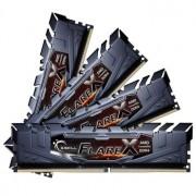 Memorie G.Skill Flare X Black 32GB (4x8GB) DDR4 3200MHz CL14 1.35V AMD Ryzen Ready Dual Channel Quad Kit, F4-3200C14Q-32GFX