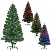 [en.casa]® Цветна коледна елха със стъклени влакна и със стойка