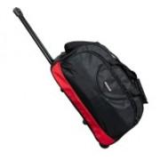 Wellmount (Expandable) Stylish & Spacious Weekender 20inch/50cm Two Wheel Travel Duffle Trolley Bag- Black Duffel Strolley Bag(Black)