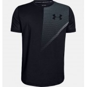 Under Armour Boys' UA Raid Short Sleeve T-Shirt Black YSM