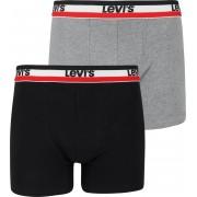 Levi's Boxershorts 2-Pack Grau Schwarz - Schwarz Größe L