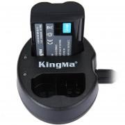 Cargador De La Cámara Kingma BM015 EL15 Double USB Camera Battery Charger Para Nikon D750
